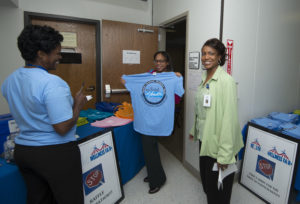 County employees participate in a Camp Wellness event.
