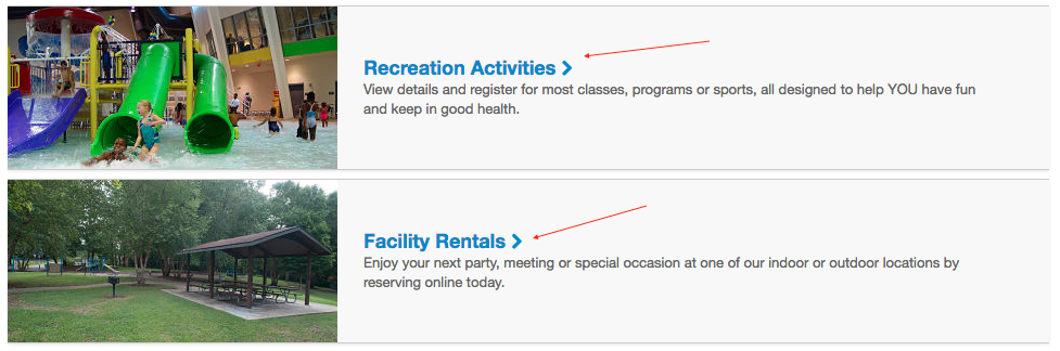Step 3 to sign up for activities using Eparks 2.0.