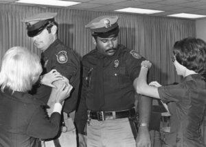 Mecklenburg County police officers get their flu shot.
