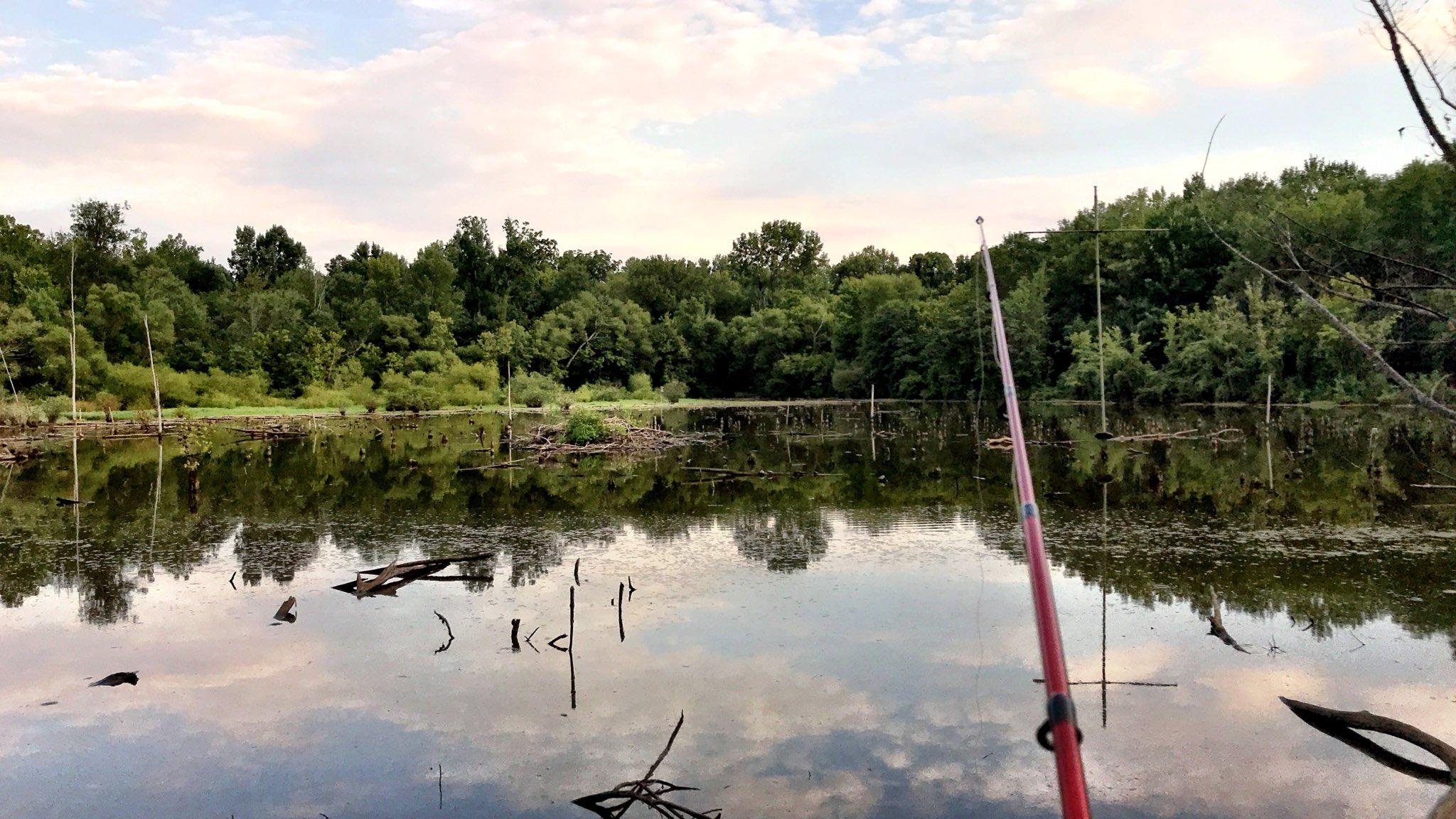 Fishing at McAlpine Creek.