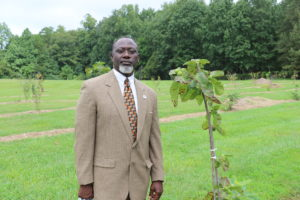 Reggie Singleton, one Public Health's policy coordinators, was inspired to create edible landscapes in Mecklenburg County.